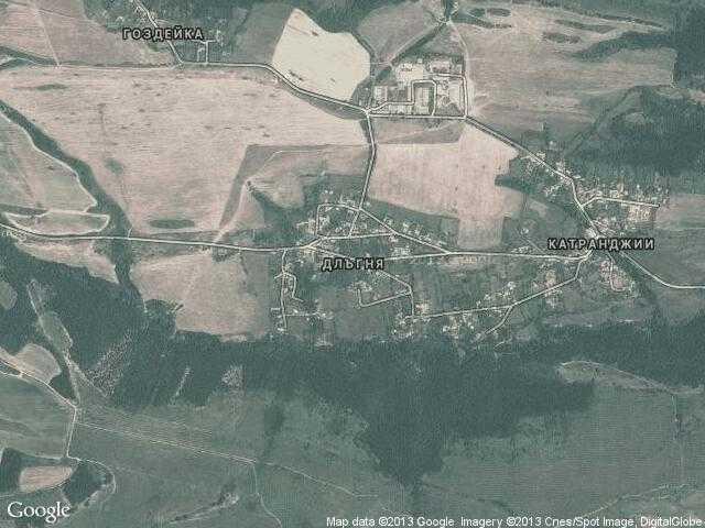 Сателитна карта на Длъгня