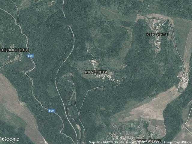 Сателитна карта на Добревци