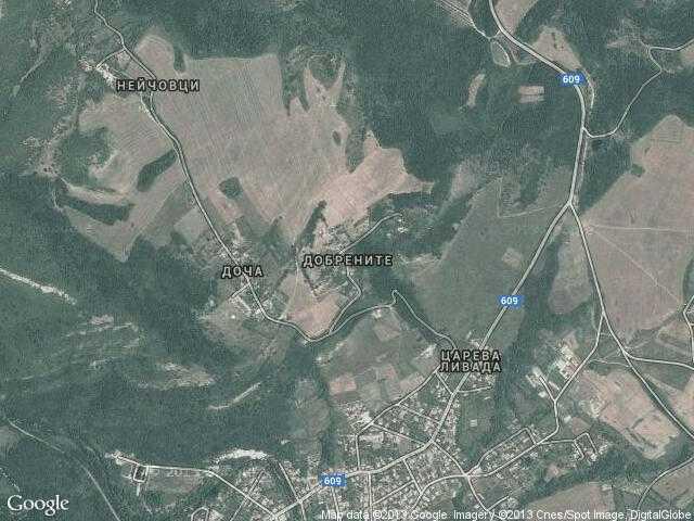 Сателитна карта на Добрените