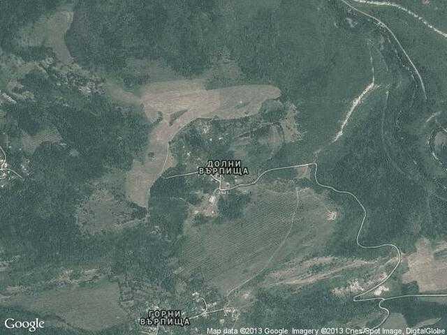 Сателитна карта на Долни Върпища