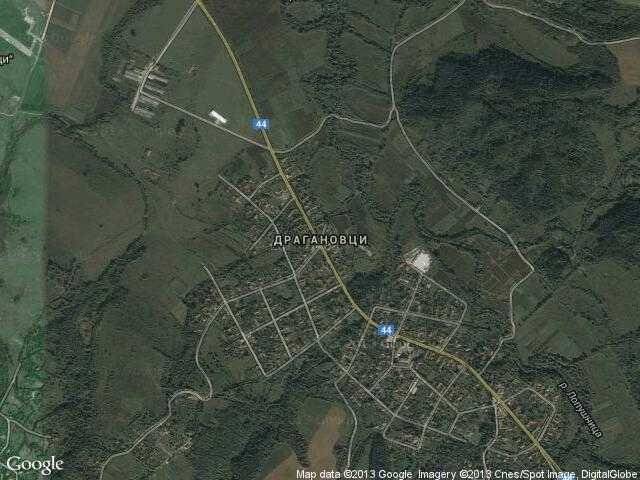 Сателитна карта на Драгановци
