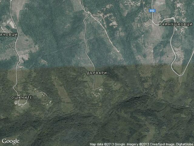 Сателитна карта на Дървари
