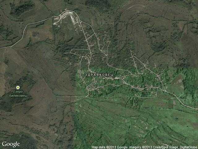 Сателитна карта на Здравковец