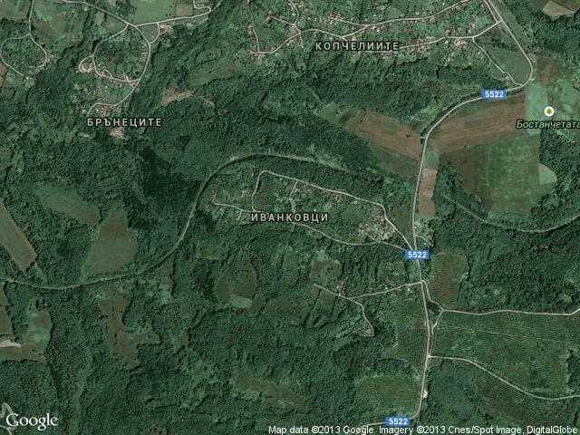 Сателитна карта на Иванковци
