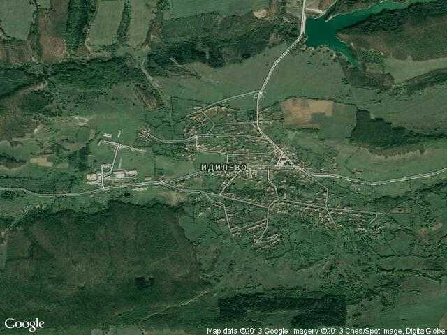 Сателитна карта на Идилево