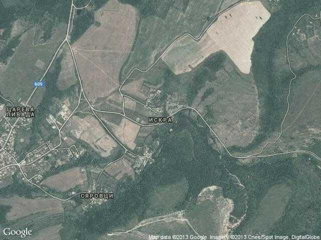 Сателитна карта на Искра