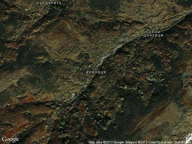Сателитна карта на Йововци