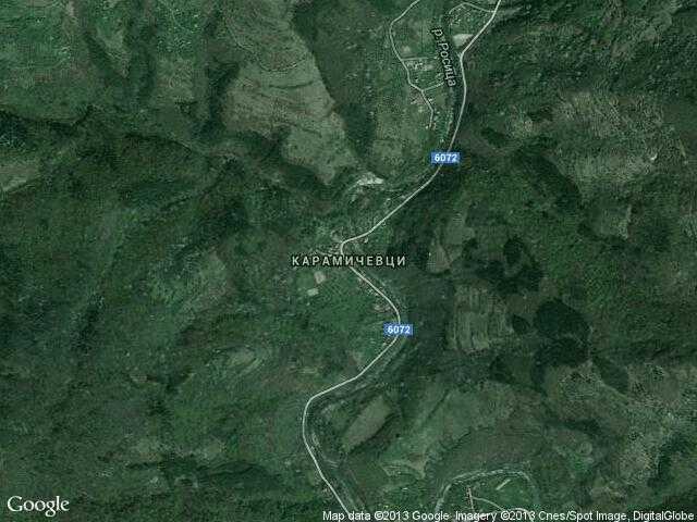 Сателитна карта на Карамичевци