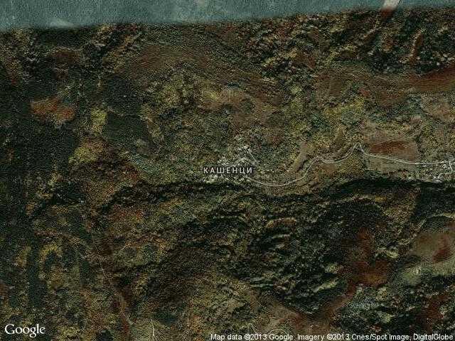 Сателитна карта на Кашенци