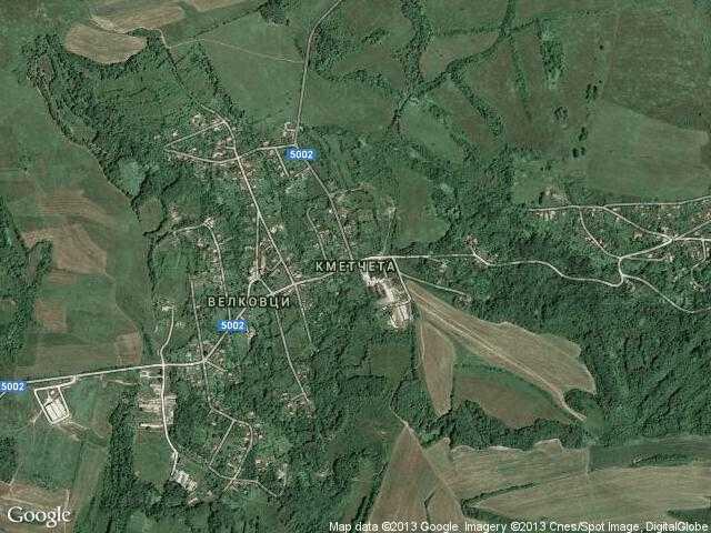 Сателитна карта на Кметчета