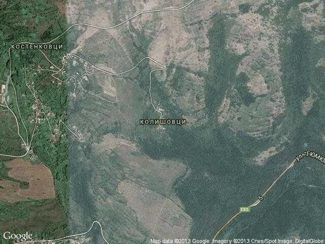 Сателитна карта на Колишовци