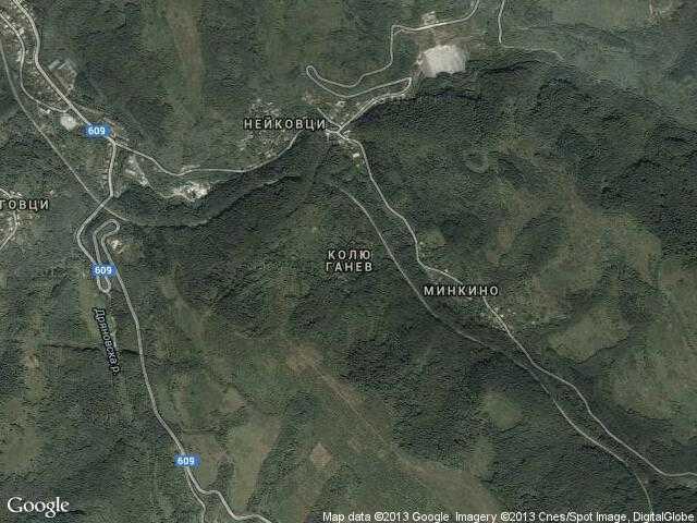 Сателитна карта на Колю Ганев
