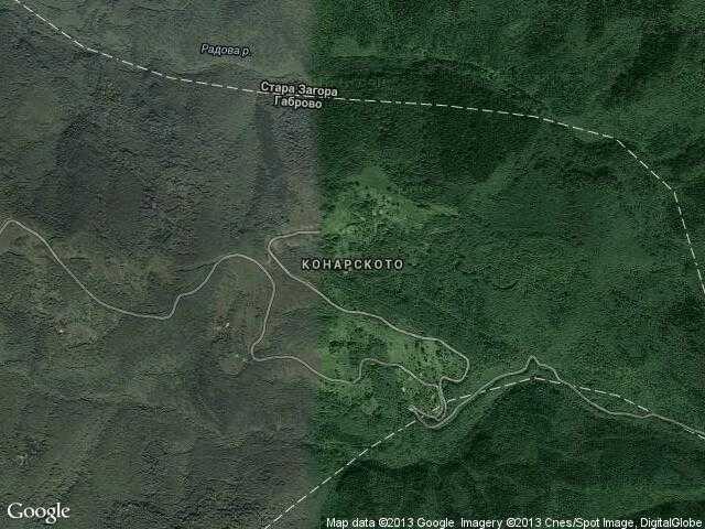 Сателитна карта на Конарското