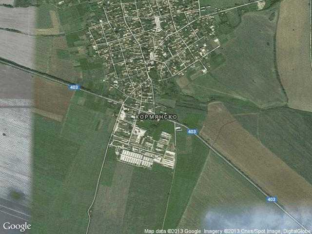 Сателитна карта на Кормянско