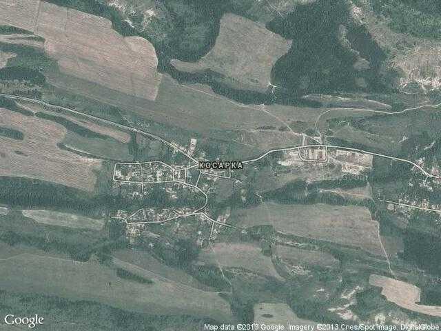 Сателитна карта на Косарка