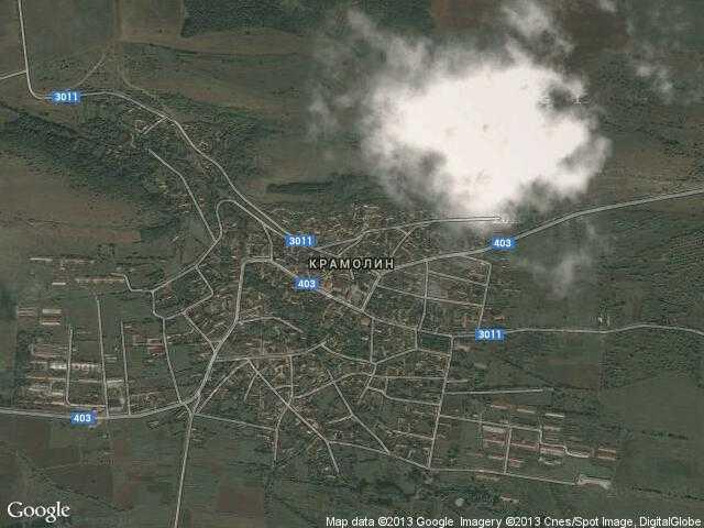 Сателитна карта на Крамолин