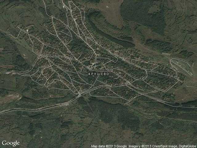 Сателитна карта на Крушево
