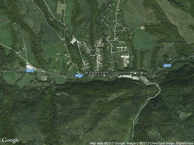 Сателитна карта на Кръвеник