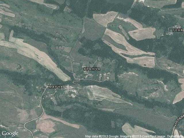 Сателитна карта на Крънча