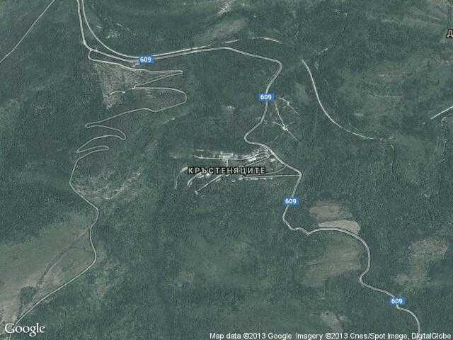 Сателитна карта на Кръстеняците