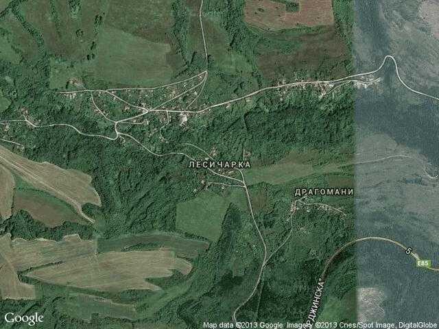 Сателитна карта на Лесичарка