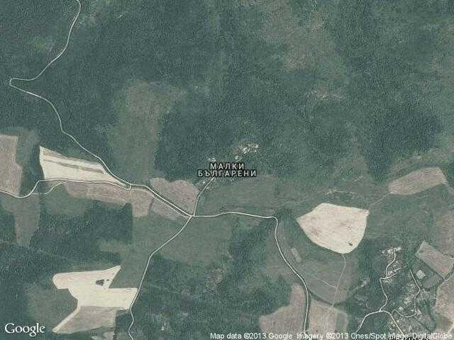 Сателитна карта на Малки Българени