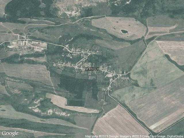 Сателитна карта на Маноя