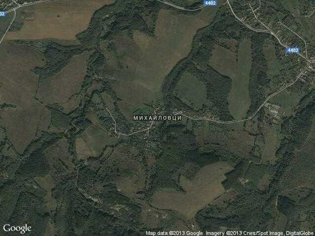 Сателитна карта на Михайловци