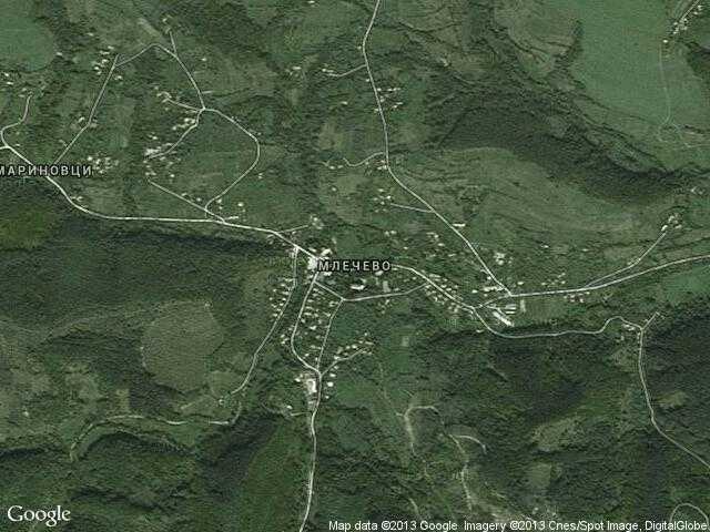 Сателитна карта на Млечево