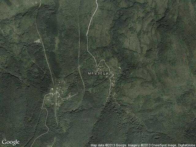 Сателитна карта на Мръзеци