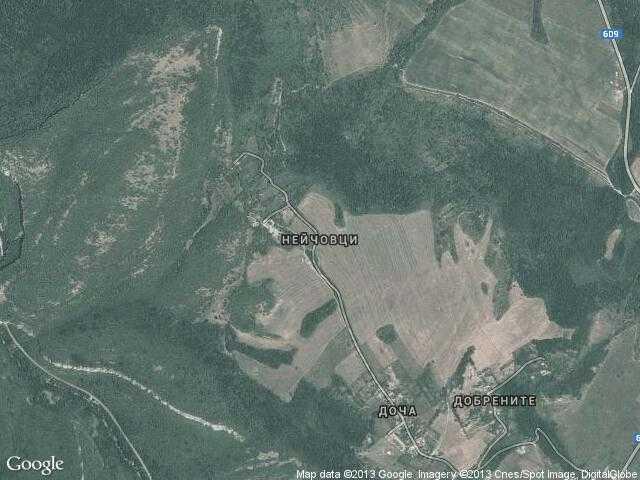 Сателитна карта на Нейчовци
