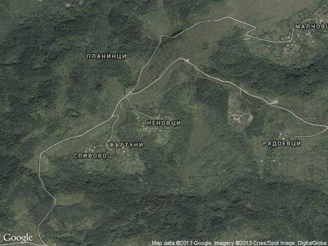 Сателитна карта на Неновци