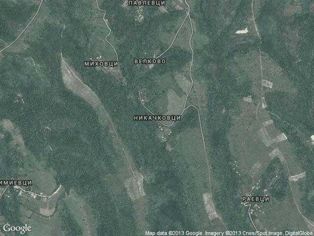 Сателитна карта на Никачковци