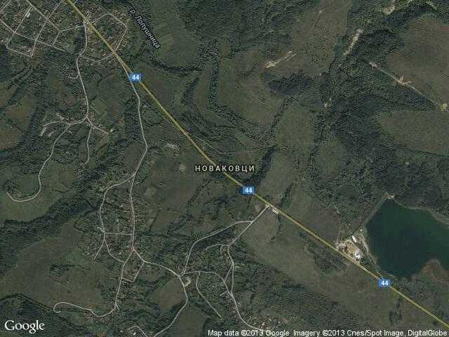 Сателитна карта на Новаковци