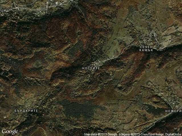 Сателитна карта на Носеите