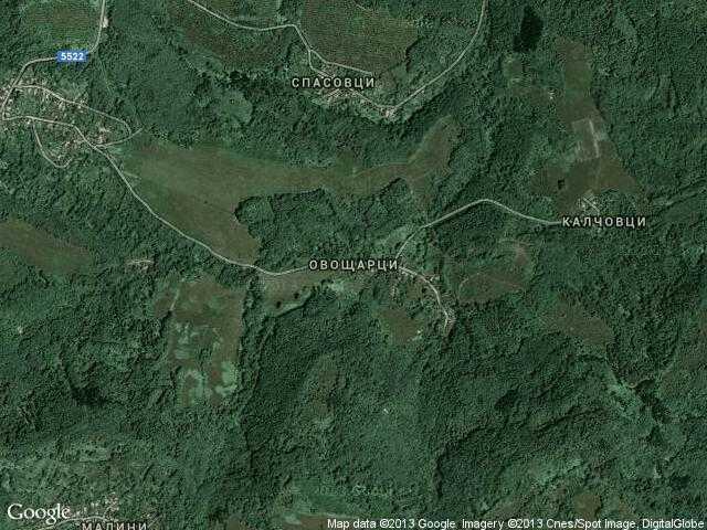Сателитна карта на Овощарци