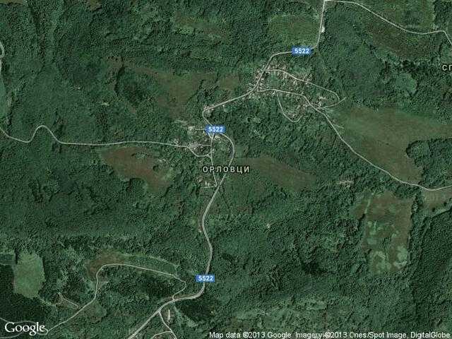 Сателитна карта на Орловци