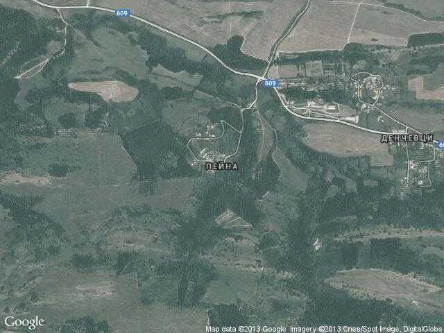 Сателитна карта на Пейна