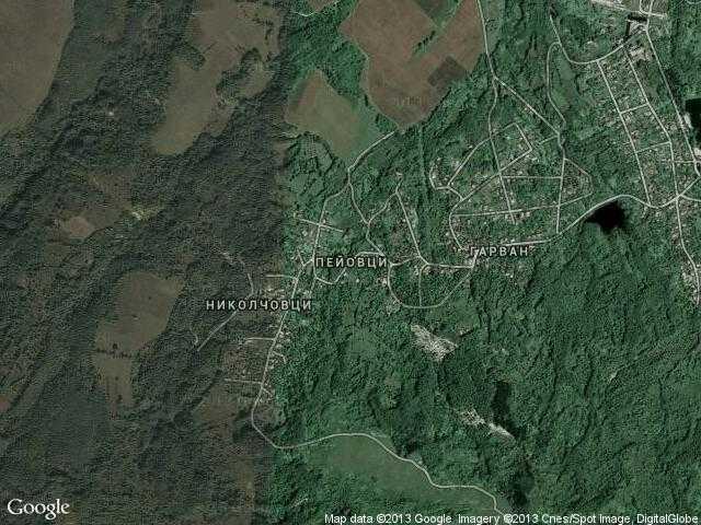 Сателитна карта на Пейовци