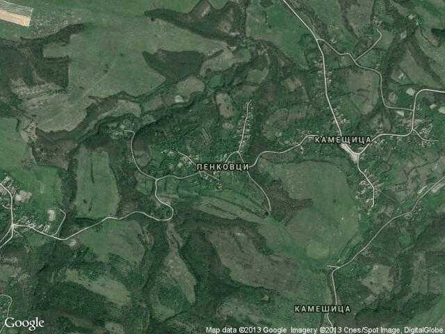 Сателитна карта на Пенковци