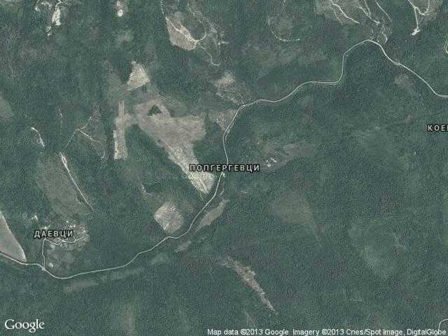 Сателитна карта на Попгергевци