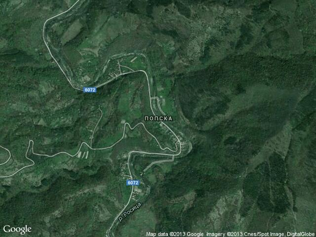 Сателитна карта на Попска