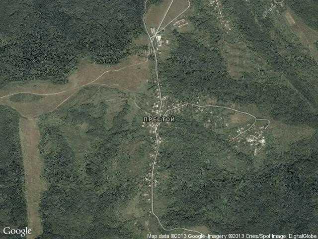 Сателитна карта на Престой