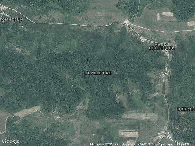 Сателитна карта на Пържиграх
