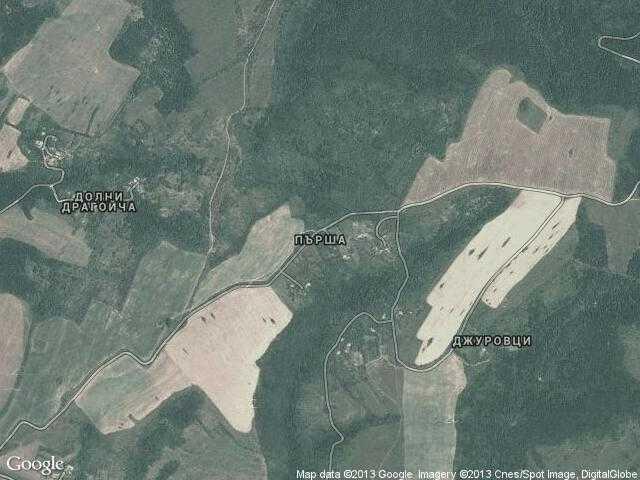 Сателитна карта на Пърша