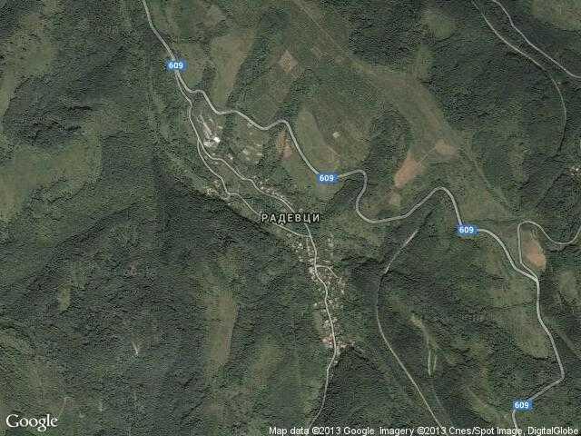 Сателитна карта на Радевци
