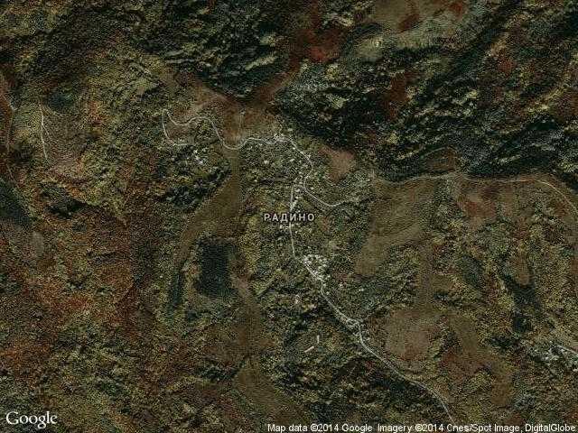 Сателитна карта на Радино