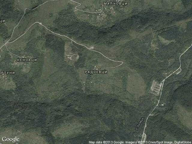 Сателитна карта на Радоевци