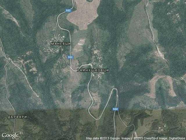 Сателитна карта на Райнушковци