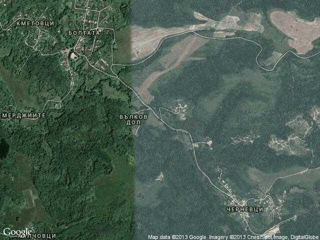 Сателитна карта на Редешковци
